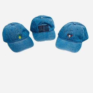 Women's Embroidered Ball Caps Hats Set of 3